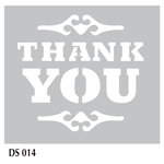 FabScraps - 6 x 6 Plastic Stencil - Thank You