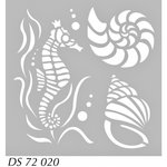 FabScraps - 8 x 8 Plastic Stencil - Sea Creatures