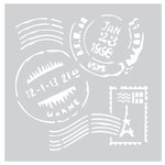 FabScraps - 8 x 8 Plastic Stencil - Stamps