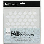 FabScraps - Tranquility Collection - 8 x 8 Plastic Stencil - Tranquil Screen
