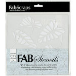 FabScraps - Tranquility Collection - 8 x 8 Plastic Stencil - Delicious Leaf