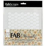 FabScraps - Country Kitchen Collection - 8 x 8 Plastic Stencil - Chicken Wire
