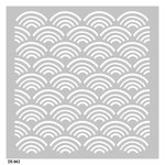 FabScraps - Beach Bliss Collection - 8 x 8 Plastic Stencil - Waves 2