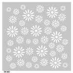 FabScraps - Kaleidoscope Collection - 8 x 8 Plastic Stencil - Daisy
