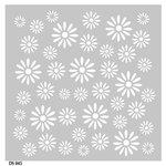 FabScraps - Kaleidoscope Collection - 8 x 8 Plastic Stencil - Daisy