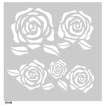 FabScraps - Vintage Elegance Collection - 8 x 8 Plastic Stencil - Roses
