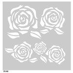 FabScraps - Vintage Elegance Collection - 8 x 8 Plastic Stencil - Roses