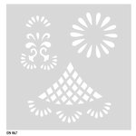 FabScraps - My Fair Lady Collection - 8 x 8 Plastic Stencil - Flower Filigree