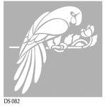 FabScraps - Wild Beauty Collection - 8 x 8 Plastic Stencil - Parrot