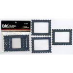 FabScraps - Metal Embellishments - Mini Frames - Denim Rectangles