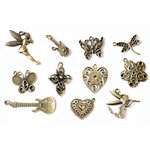 FabScraps - Metal Embellishments Box - Charms - Old Brass 2