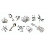 FabScraps - Metal Embellishments Box - Charms - Old Silver 2