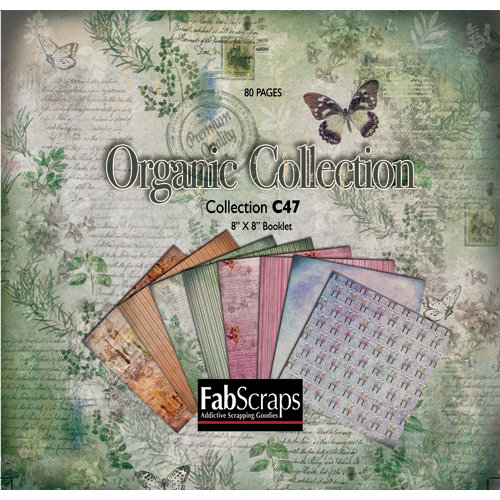 FabScraps - Organic Collection - Mini Paper Book 8 x 8
