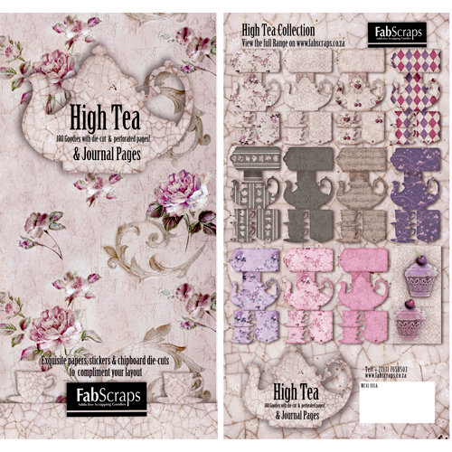 FabScraps - High Tea Collection - Die Cut Journaling Pages