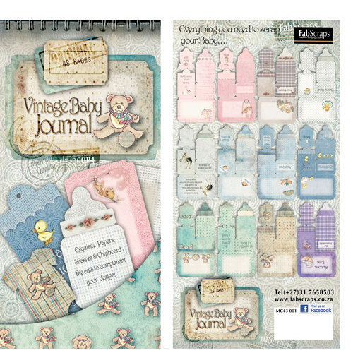 FabScraps - Vintage Baby Collection - Die Cut Journaling Tags