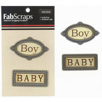 FabScraps - Metal Embellishments - Baby Boy