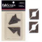 FabScraps - Metal Embellishments - Bronze Decorative Corner