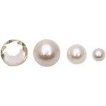 FabScraps - Pearls - Bling - Cream