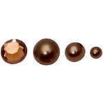 FabScraps - Pearls - Bling - Brown