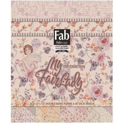 FabScraps - My Fair Lady Collection - 12 x 12 Paper Pad