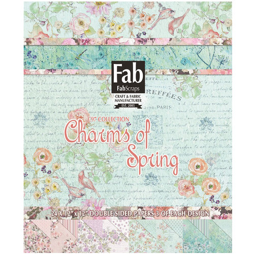 FabScraps - Charms of Spring Collection - 12 x 12 Paper Pad