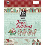 FabScraps - Joy To The World Collection - Christmas - 12 x 12 Paper Pad