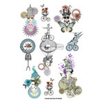 FabScraps - Dream Steam Collection - Stickers - Industrial Chic