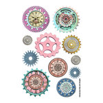 FabScraps - Dream Steam Collection - Stickers - Brilliant Cogs