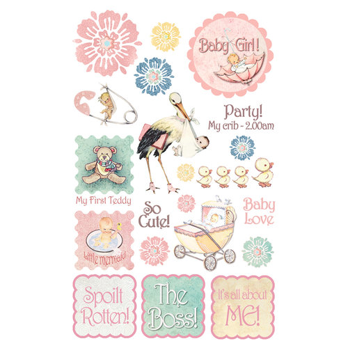 FabScraps - Vintage Baby Collection - Stickers - 1
