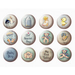 FabScraps - Vintage Baby Collection - Stickers - Boy