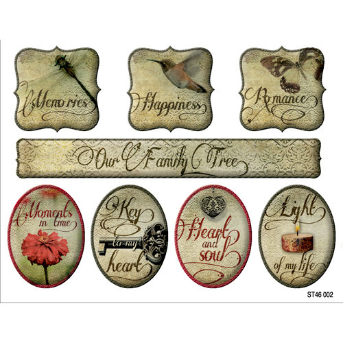 FabScraps - Classic Collection - Stickers - Round