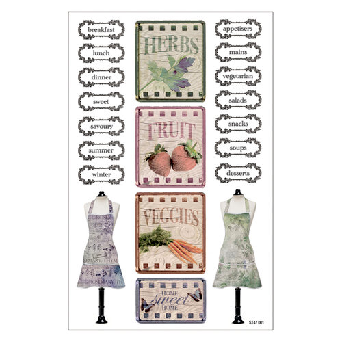 FabScraps - Organic Collection - Stickers - Apron