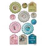 FabScraps - Little Peeps Collection - Stickers - Flowers, Rounds and Tags
