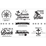 FabScraps - Beach Affair Collection - Vinyl Stickers - Black and White