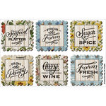 FabScraps - Country Kitchen Collection - Stickers - Scalloped Tags