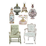 FabScraps - Vintage Elegance Collection - Stickers - Pictures