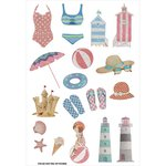 FabScraps - Summer Loving Collection - Stickers - Beach Day