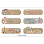 FabScraps - Summer Loving Collection - Stickers - Beach Words
