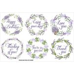 FabScraps - Lavender Breeze Collection - Stickers - Lavender Wreaths