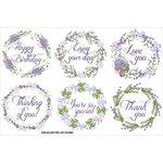 FabScraps - Lavender Breeze Collection - Stickers - Lavender Wreaths