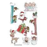 FabScraps - Joy To The World Collection - Christmas - Stickers - Little Helpers