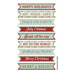 FabScraps - Joy To The World Collection - Christmas - Stickers - Happy Holidays