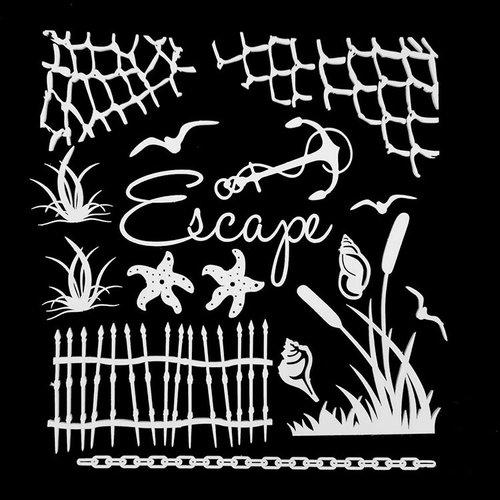 49 and Market - 6 x 6 Archival Chipboard - Escape - White