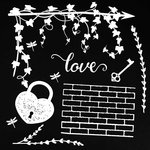49 and Market - 6 x 6 Archival Chipboard - Love - White