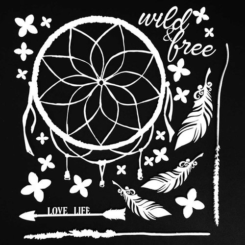 49 and Market - 6 x 6 Archival Chipboard - Wild and Free - White