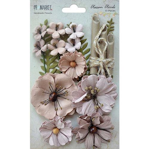 49 and Market - Handmade Flowers - Blossom Blends - Sandcastle
