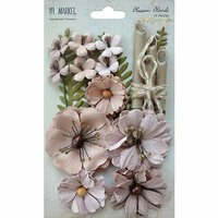 49 and Market - Handmade Flowers - Blossom Blends - Sandcastle