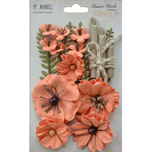 49 and Market - Handmade Flowers - Blossom Blends - Cantaloupe