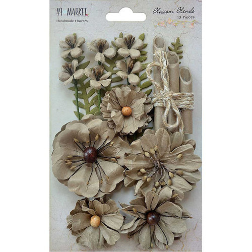 49 and Market - Handmade Flowers - Blossom Blends - Linen