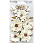 49 and Market - Flower Embellishments - Botanical Blends - Buttermilk